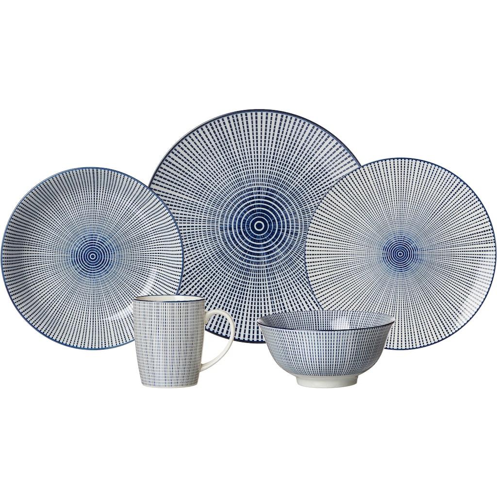 Ritzenhoff & Breker Speiseteller »ROYAL MAKOTO«, (Set, 4 St.), Keramik