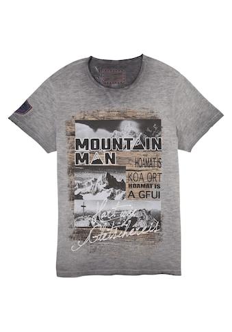 Andreas Gabalier Kollektion Trachtenshirt, Herren, mit Berg-Printmotiv kaufen