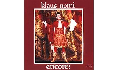 Musik-CD »ENCORE (NOMI'S BEST) / NOMI,KLAUS« kaufen