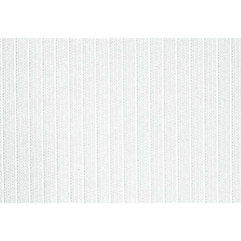 sunlines Lamellenvorhang nach Maß, mit weißen Verbindungsketten, mittig geteilt.