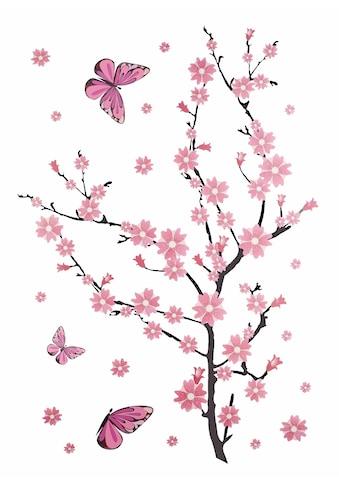 Wall-Art Wandtattoo »Kirschblüten mit Schmetterlingen« kaufen