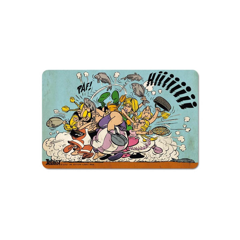 LOGOSHIRT Frühstücksbrettchen im farbenfrohen Asterix & Obelix-Design