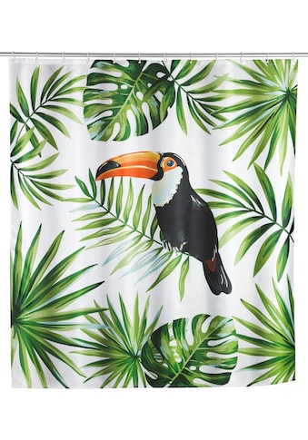 WENKO Duschvorhang »Tucan«, Breite 180 cm, Höhe 200 cm, Textil (Polyester) kaufen