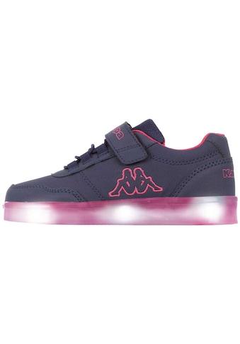 Kappa Sneaker »RENDON KIDS«, mit farbigen Leuchtelementen in der Sohle kaufen