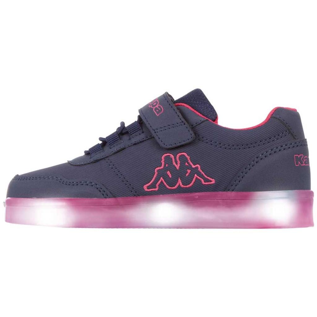 Kappa Sneaker »RENDON KIDS«, mit farbigen Leuchtelementen in der Sohle