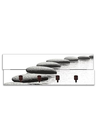 Artland Garderobenpaneel »Ein Kiesel auf einem Hintergrund«, platzsparende... kaufen