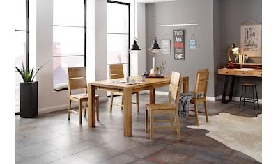 Home affaire Essgruppe »Nils 7«, (Set, 5 St., Tisch 180/90 cm, 4 Stühle, Holzsitz),... kaufen
