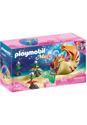 Playmobil® Konstruktions-Spielset »Meerjungfrau mit Schneckengondel (70098), Magic«,... kaufen