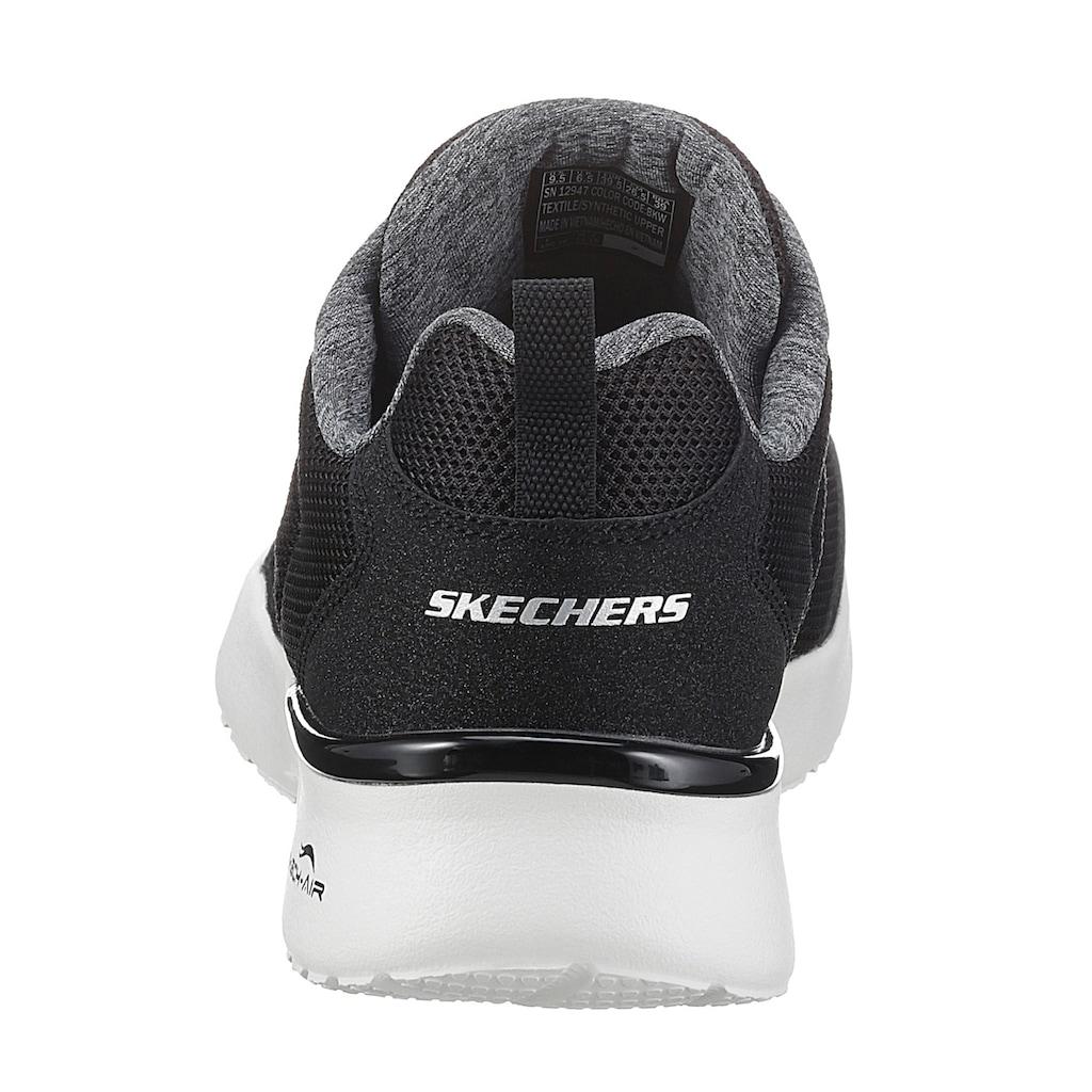 Skechers Sneaker »Skech-Air Dynamight - Fast Brake«, mit Metallic-Element an der Ferse