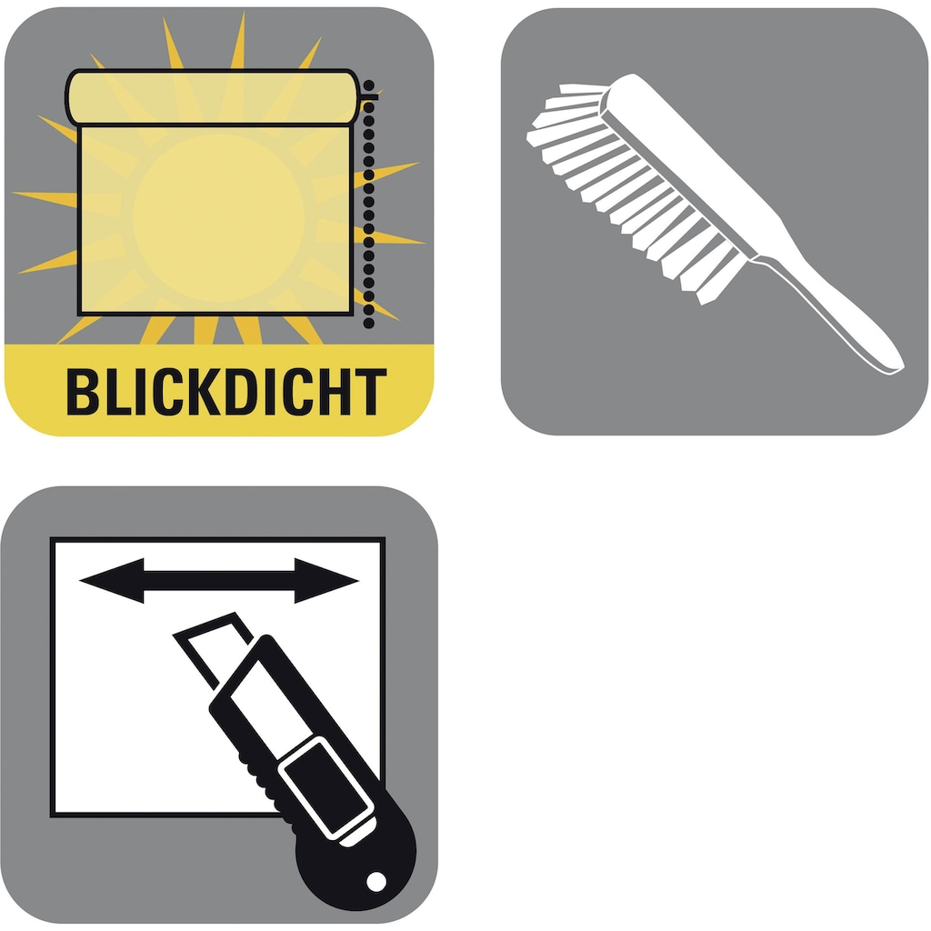 GARDINIA Seitenzugrollo, Lichtschutz, freihängend, Easyfix Tageslicht Rollo Digiprint Dekor
