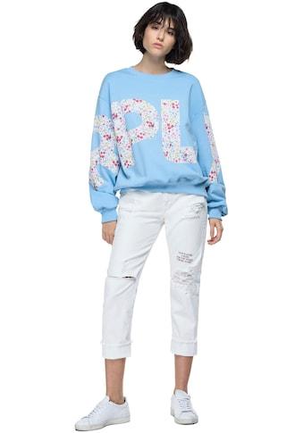 Replay Sweatshirt, mit Schiftzug über das ganze Oberteil kaufen