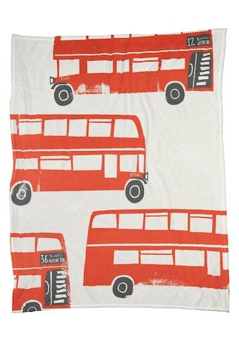 Juniqe Wohndecke »London Busses«, sehr weich und kuschelig kaufen