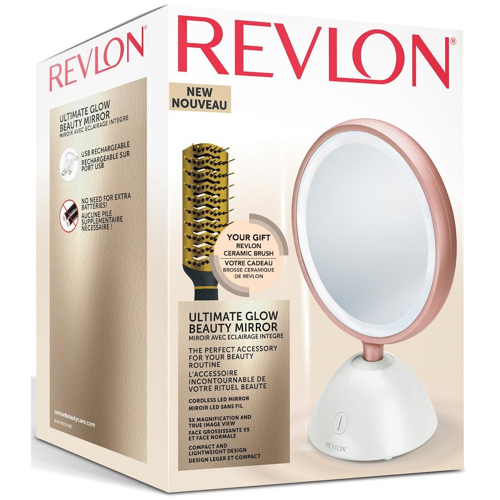 Revlon Kosmetikspiegel, inkl. REVLON Ceramic Brush