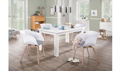 Home affaire Esstisch »Ixo«, Mit 2 dekorativ geschwungenen Oberplatten.. Hochwertige... kaufen