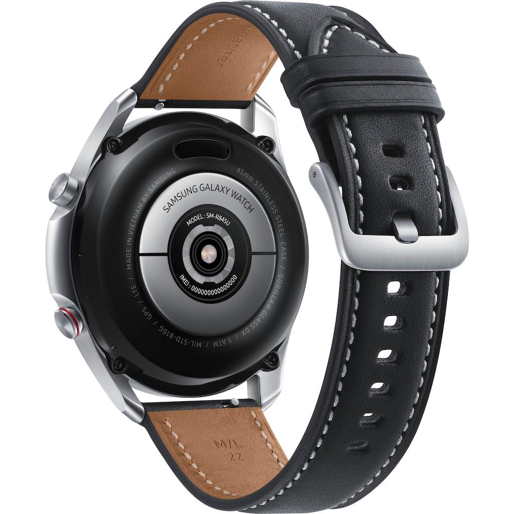 Samsung Smartwatch »Galaxy Watch 3, Edelstahl, 45 mm, LTE (SM-R845)«, (Android Wear)