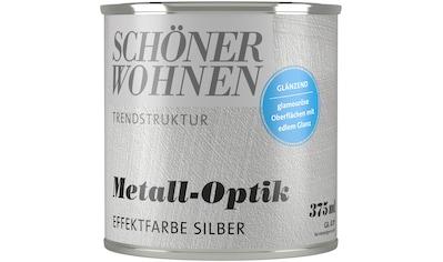 SCHÖNER WOHNEN-Kollektion Wandfarbe »Trendstruktur Metall-Optik«, glänzend kaufen