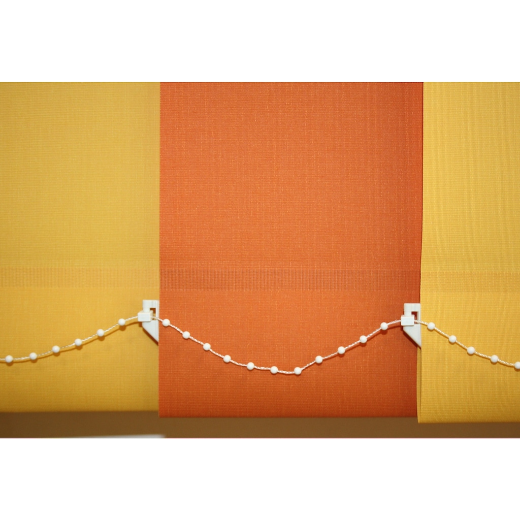 sunlines Lamellenvorhang nach Maß, mit weißen Verbindungsketten, Ohne Teilung