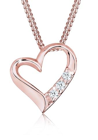 Diamore Collierkettchen »Herz Liebe Diamant (0.06 ct.) 925 Silber« kaufen