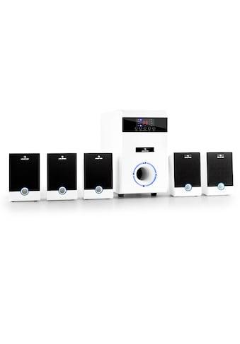 Auna aktives 5.1 Surround Lautsprecher Set 95W RMS Fernbedienung weiß kaufen