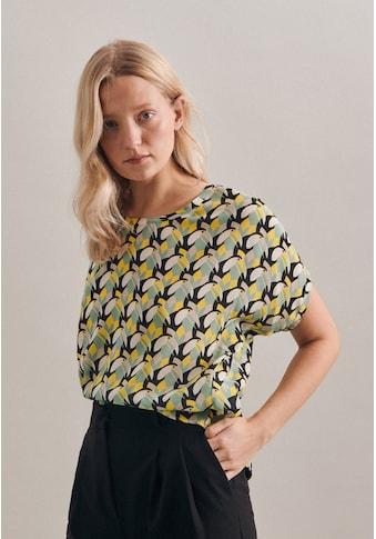 seidensticker Shirtbluse »Schwarze Rose«, Kurzarm Rundhals Druck kaufen