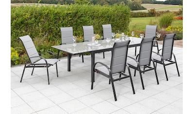 MERXX Gartenmöbelset »Marini«, (9 tlg.), 8 Klappsessel, ausziehbarer Tisch kaufen