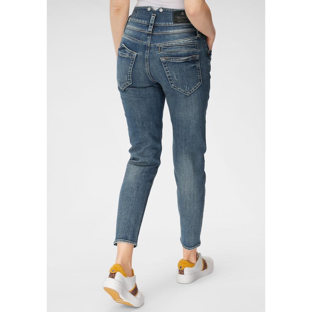 Herrlicher High-waist-Jeans »PITCH HI CONIC RECYCLED DENIM«, aus umweltfreundlicher Produktion