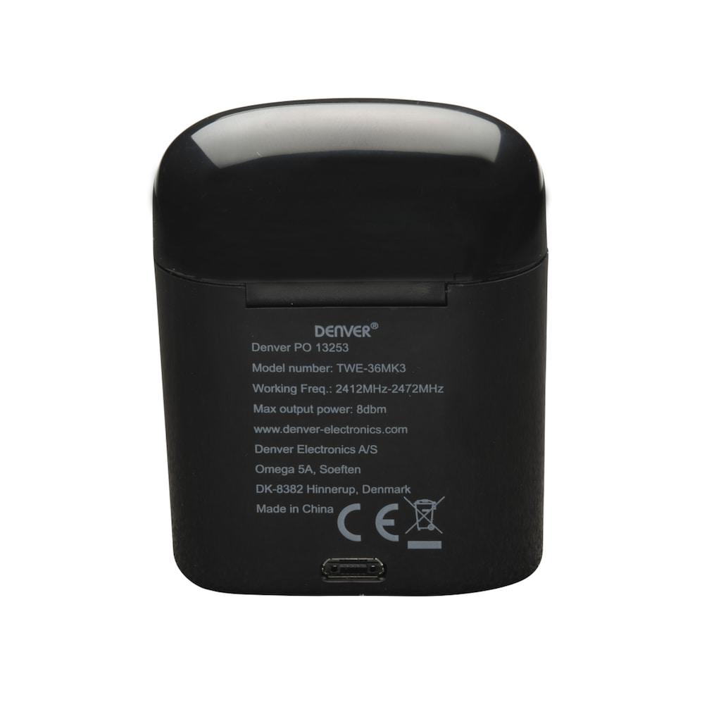 Denver Kopfhörer »TWE-36MK3 Wireless BT Earbuds«, Bluetooth, Freisprechfunktion, Headset