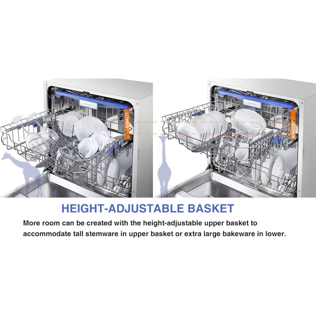 Hanseatic teilintegrierbarer Geschirrspüler »HGTI6082D14J7735ES«, HGTI6082D14J7735ES, 14 Maßgedecke