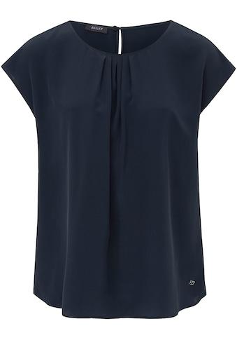 Basler Bluse mit Kappärmeln und gerafftem Ausschnitt kaufen