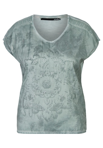 LeComte T-Shirt, mit floralem Muster und Pailletten kaufen