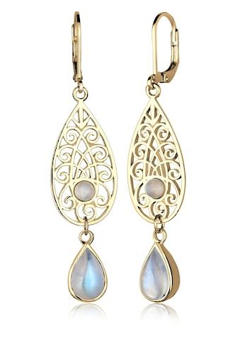 Elli Paar Ohrhänger »Mondstein Tropfen Ornamente 925 Silber« kaufen