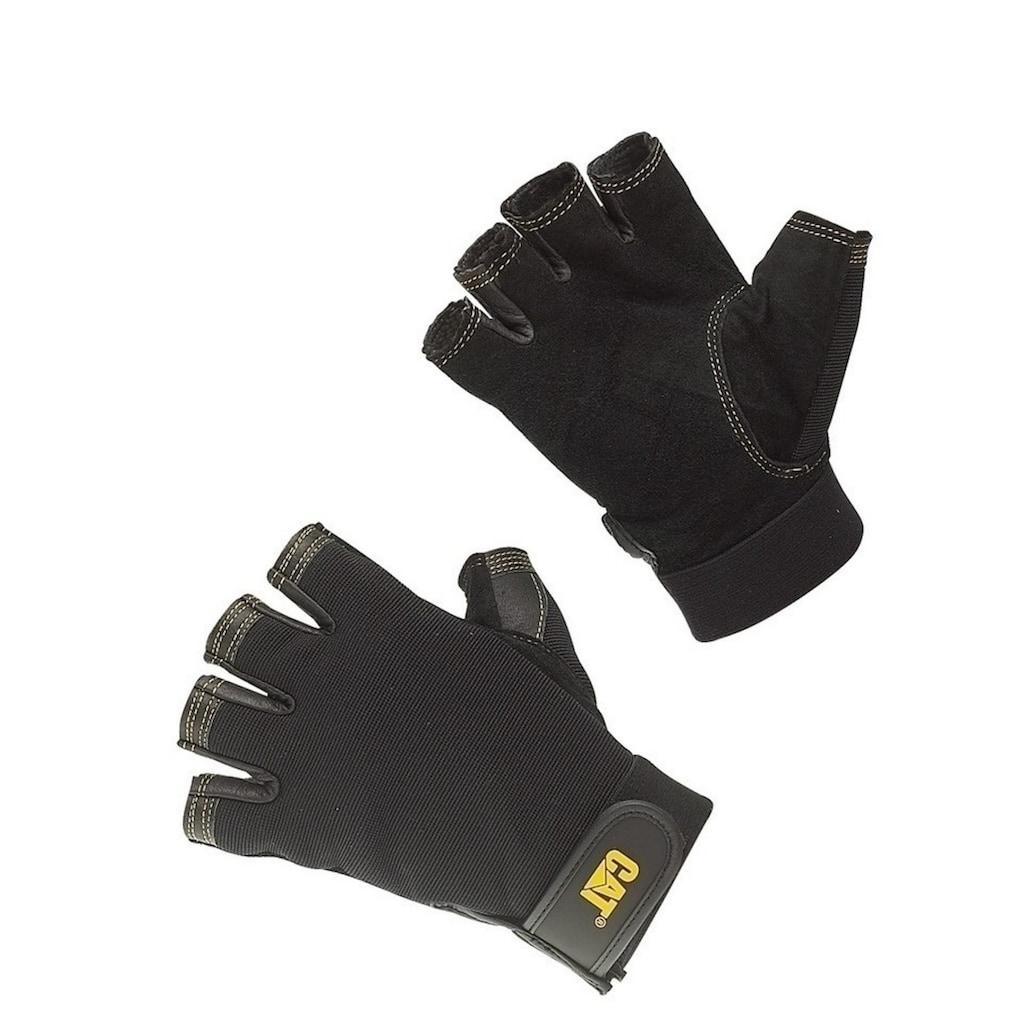 CATERPILLAR Multisporthandschuhe »12202 Herren Halbfinger-Handschuhe, Handinnenfläche aus Schweineleder«