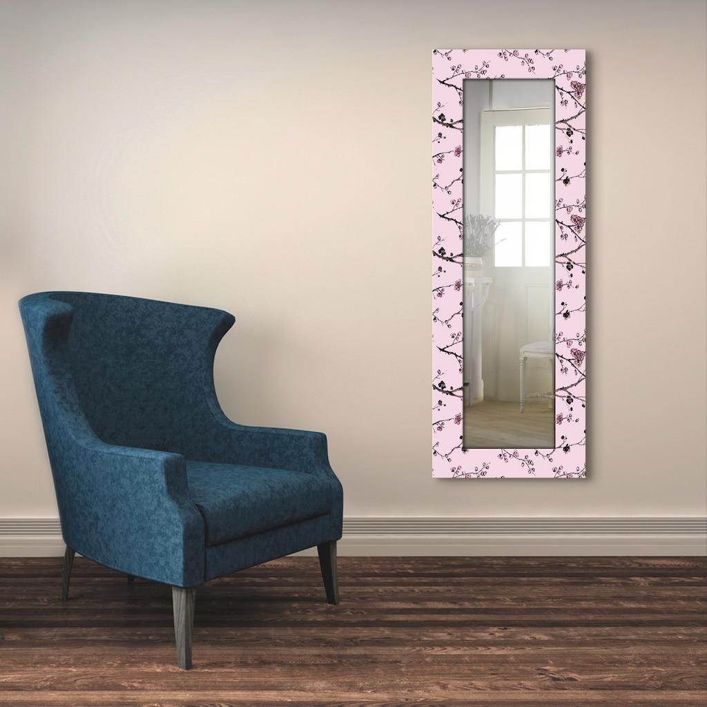 Artland Wandspiegel »Chinesischer Stil«, gerahmter Ganzkörperspiegel mit Motivrahmen, geeignet für kleinen, schmalen Flur, Flurspiegel, Mirror Spiegel gerahmt zum Aufhängen