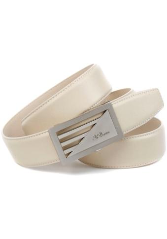 Anthoni Crown Ledergürtel, Automatik Ledergürtel, Schließe im Streifen-Design kaufen