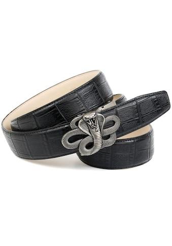 Anthoni Crown Ledergürtel, Schließe mit Schlangen Motiv kaufen