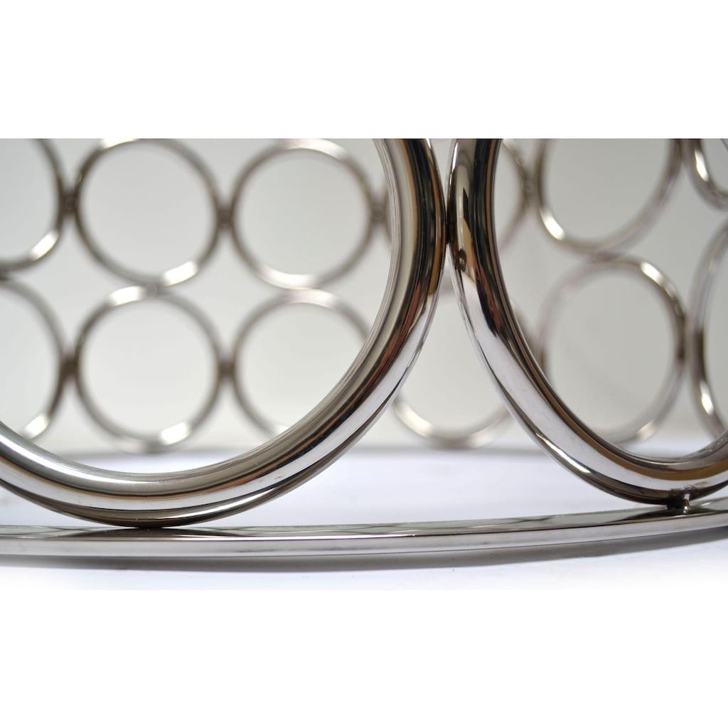 Leonique Esstisch »Mary«, runde Glasplatte mit modernem Chromgestell, in Handarbeit gefertigt