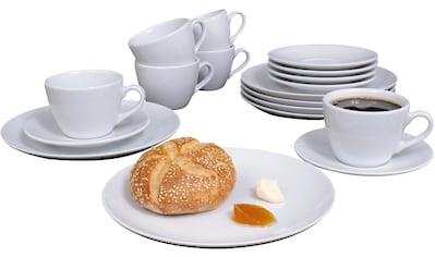 "Eschenbach Kaffeeservice ""Simply Cup"" (18 - tlg.), Porzellan kaufen"
