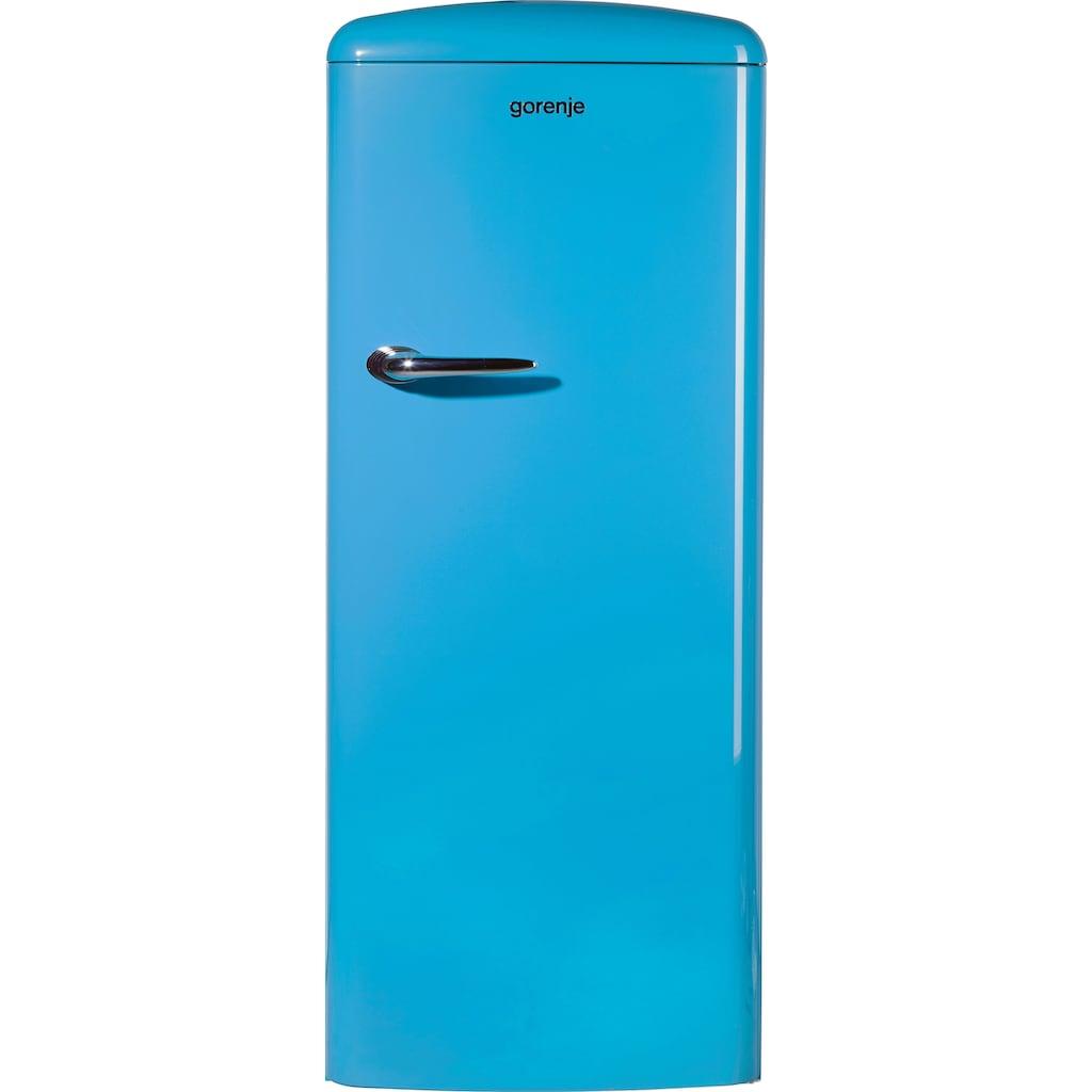 GORENJE Kühlschrank, ORB153BL, 154 cm hoch, 60 cm breit, 154 cm hoch, 60 cm breit