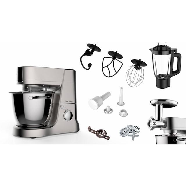 Privileg Multifunktions-Küchenmaschine 886384, 1200 Watt, Schüssel 4 Liter