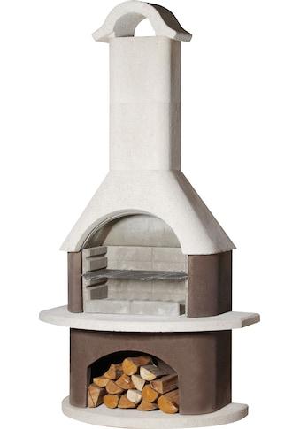 BUSCHBECK Grillkamin »Athen«, B/T/H: 110/65/210 cm, weiß/braun kaufen