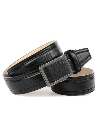 Anthoni Crown Ledergürtel, Handgenähter Gürtel mit stilvoller Automatik-Schließe kaufen