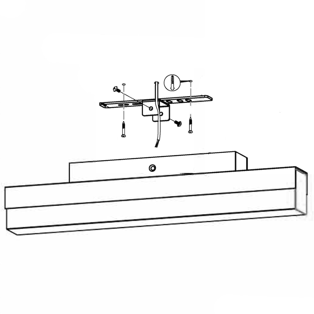EGLO LED Wandleuchte »TORRETTA«, LED-Board, Warmweiß