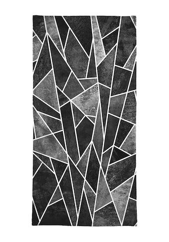 Juniqe Handtuch »Shattered Black«, (1 St.), Weiche Frottee-Veloursqualität kaufen