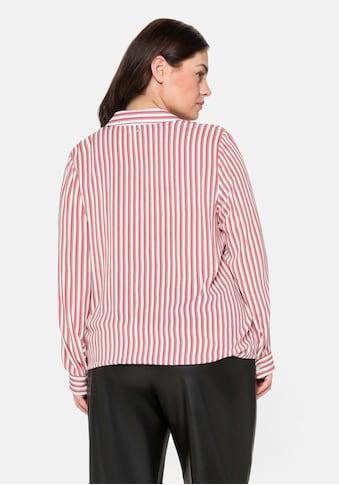 Sheego Tunika, mit Streifen, in verschlussloser Wickeloptik kaufen