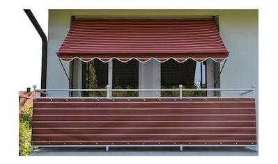 Angerer Freizeitmöbel Balkonsichtschutz, Meterware, weinrot-weiß, H: 90 cm kaufen