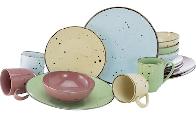 "CreaTable Kombiservice ""Cottage Pastell"" (16 - tlg.), Porzellan kaufen"