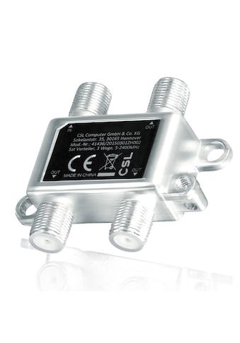 CSL 3-Wege Sat Verteiler mit Erdungsanschluss »5 - 2400 MHz Frequenzbereich / voll... kaufen