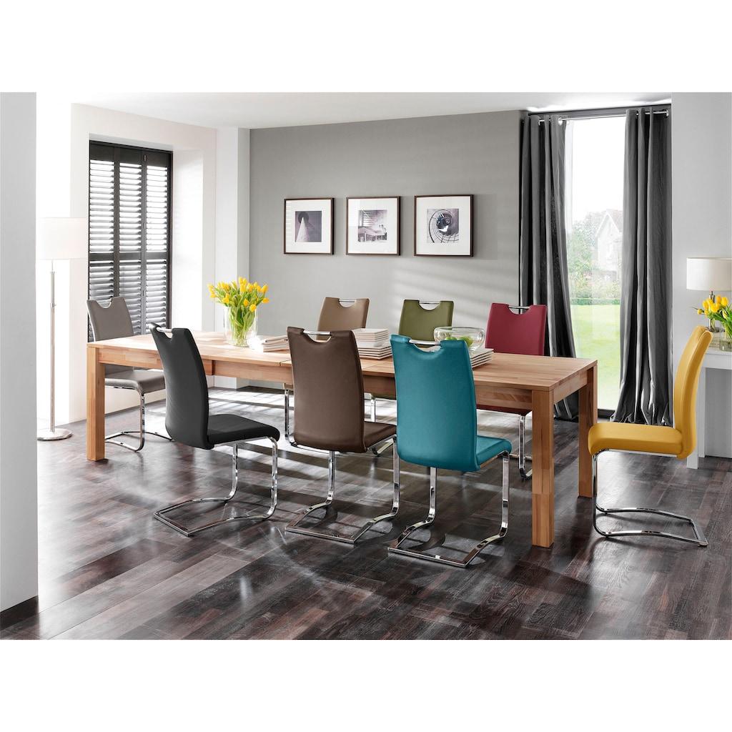 MCA furniture Freischwinger »Köln«, 4-er Set, Kunstlederbezug mit Griffloch, Komfortsitzhöhe, Stuhl belastbar bis 120 kg