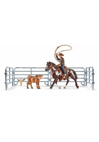 Schleich® Spielfigur »Farm World, Team Roping mit Cowboy (41418)« kaufen