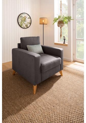 Home affaire Sessel »Stanza Luxus«, Belastbarkeit bis zu 140kg, B/T/H: 85/93/89 cm kaufen